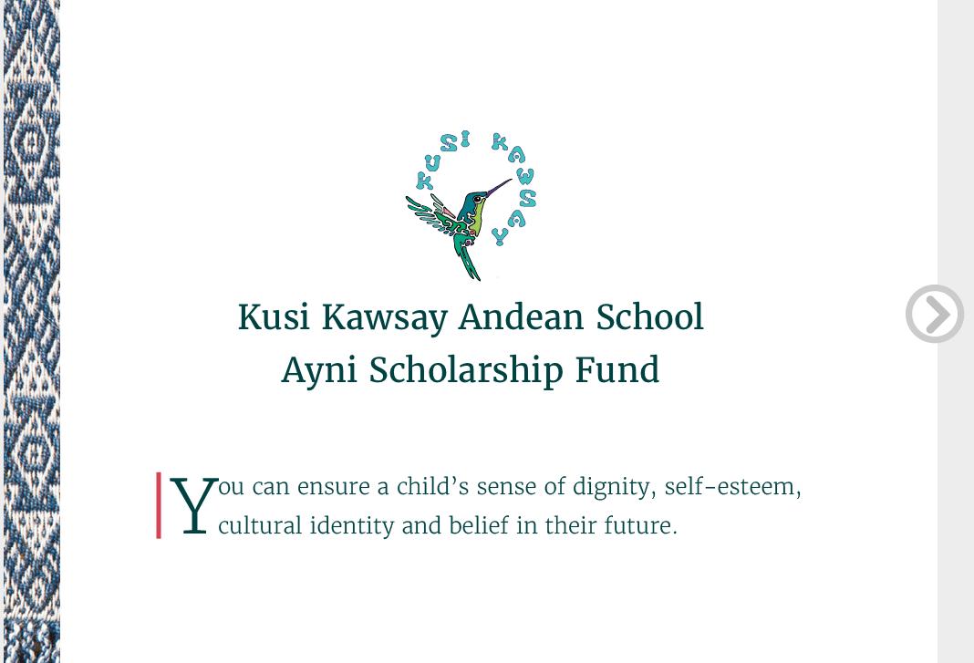 Kusi Kawsay Ayni Scholarship Fund